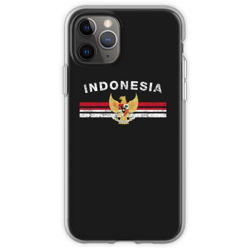 Indonesisches Flaggen-Hemd - indonesisches Emblem u. Indonesien-Fla Flexible Hülle für iPhone 11 Pro