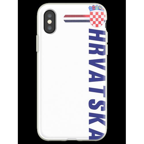 Hrvatska Nationaltrikot Stil Sport Flexible Hülle für iPhone XS