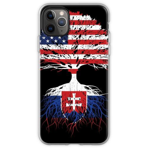 Slowakei Wurzeln, Slowakei Slowakei USA Flaggen, Slowakisch, US Flexible Hülle für iPhone 11 Pro Max