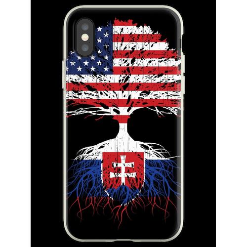 Slowakei Wurzeln, Slowakei Slowakei USA Flaggen, Slowakisch, US Amerika Flexible Hülle für iPhone XS