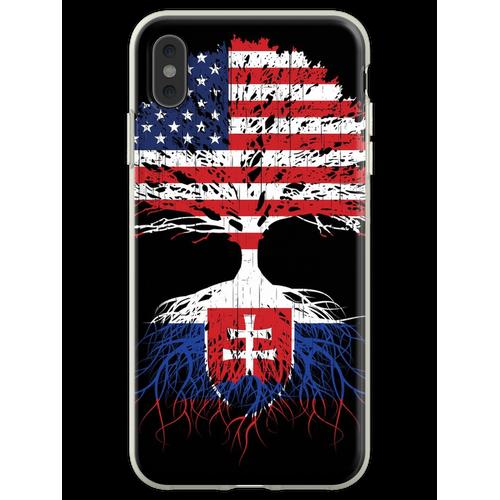 Slowakei Wurzeln, Slowakei Slowakei USA Flaggen, Slowakisch, US Ame Flexible Hülle für iPhone XS Max
