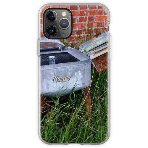 Antique Wringer Waschmaschine und Waschmaschine Flexible Hülle für iPhone 11 Pro