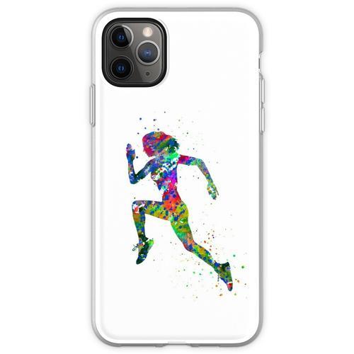Laufende Frau, Jogger, Sport joggen Flexible Hülle für iPhone 11 Pro Max