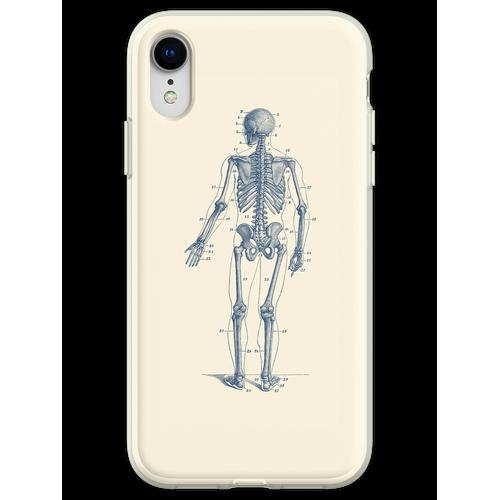 Rückwärtsgerichtetes Skelett-Diagramm Flexible Hülle für iPhone XR