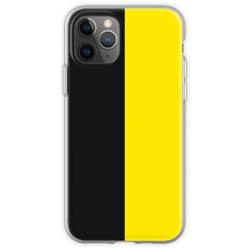 Watford Schwarzes und Gelbes Halbes Trikot Flexible Hülle für iPhone 11 Pro