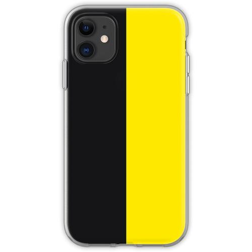 Watford Schwarzes und Gelbes Halbes Trikot Flexible Hülle für iPhone 11