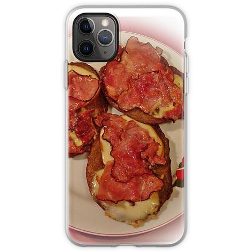 Kartoffelpuffer mit Käse und Speck ... Guten Appetit! Flexible Hülle für iPhone 11 Pro Max