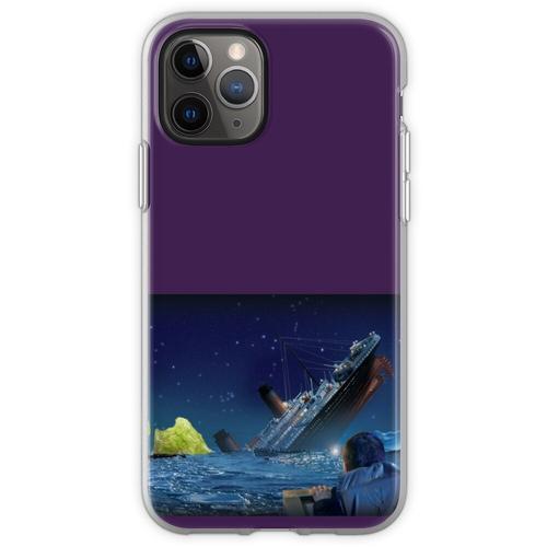 Titanic, der ein Stück Eisbergsalat schlägt Flexible Hülle für iPhone 11 Pro