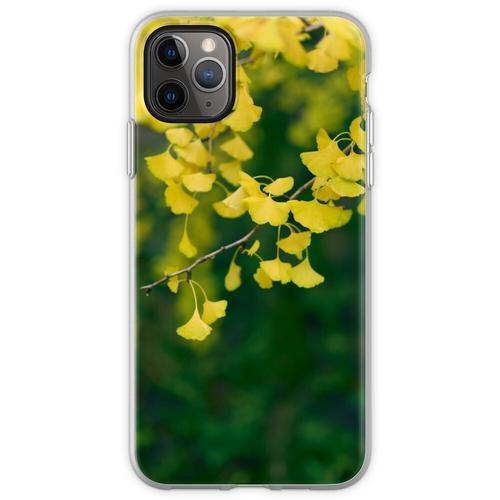 Gelber Ginkgobaum verlässt im Kunstfoto-Druck des Herbstes kü Flexible Hülle für iPhone 11 Pro Max