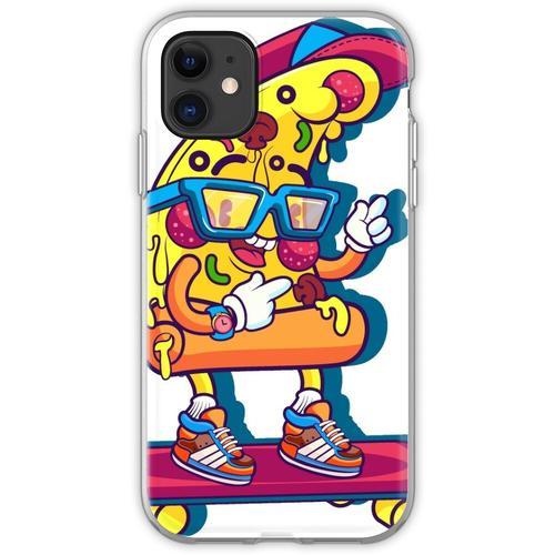 Pizza Skateboard, lustige Pizza, Cartoon Pizza, Cartoon Skateboard, lus Flexible Hülle für iPhone 11