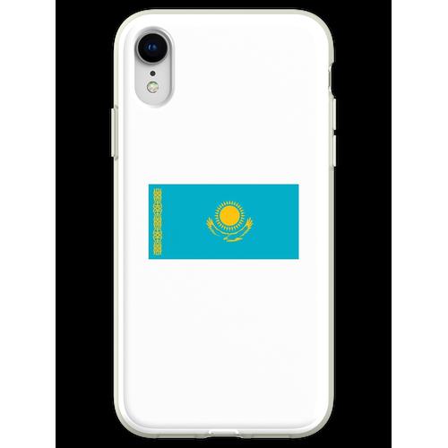 Kasachstan. Kasachstan Flagge. Flexible Hülle für iPhone XR