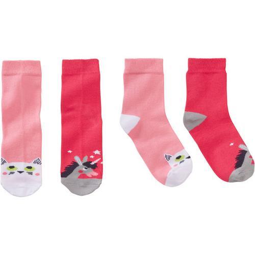 Socken Tiere, pink, Gr. 23/26