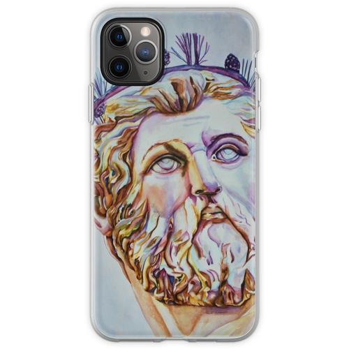 Neptun - Vom Neptunbrunnen, Florenz, Italien Flexible Hülle für iPhone 11 Pro Max