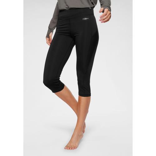 Ocean Sportswear Yogatights 3/4 Yoga-Tights, mit Mesh-Einsätze schwarz Damen Schuhe Yoga Pilates Sportarten