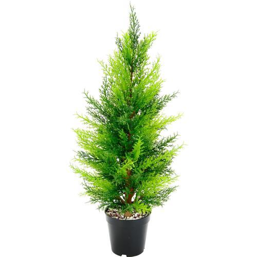 I.GE.A. Kunstbaum Zypresse, im Topf grün Künstliche Zimmerpflanzen Kunstpflanzen Wohnaccessoires