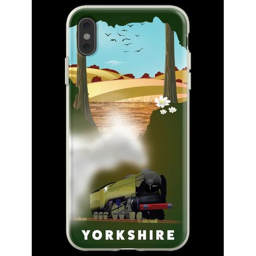 Yorkshire-Eisenbahnplakat Flexible Hülle für iPhone XS Max