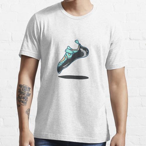 Klettern | Kletterschuh in der Luft Essential T-Shirt