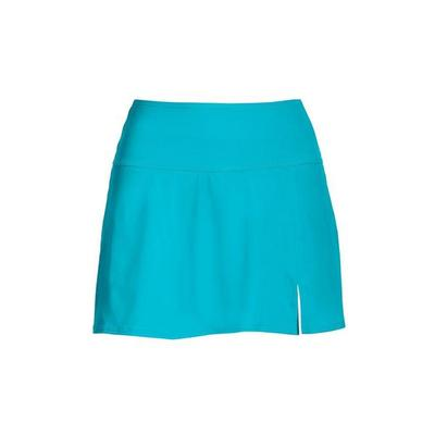 Boston Proper - Swim Sense High-Waisted Skirted Bottom - Splash Blue - X Small