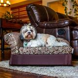 Moots Cleopatra Chaise Lounge Sofa Cat & Dog Bed w/Removable Cover, Medium, Chocolate Brown