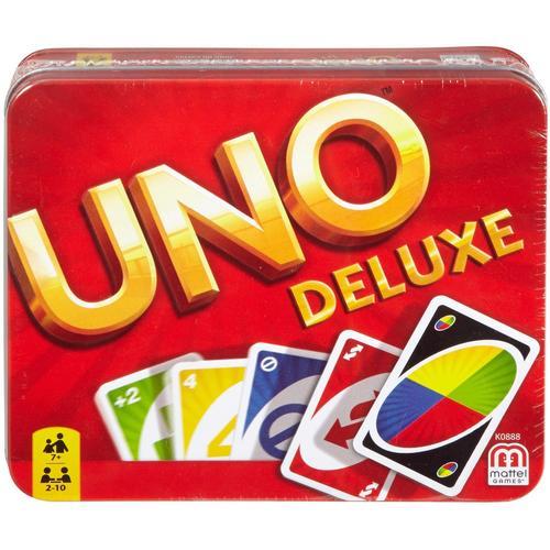 Mattel games Spiel UNO Deluxe in Metalldose bunt Kinder Ab 6-8 Jahren Altersempfehlung