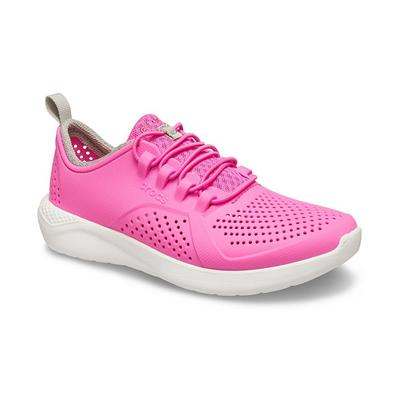 Crocs Electric Pink / White Kids' Literide™ Pacer Shoes