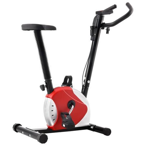 vidaXL Heimtrainer mit Riemenantrieb Rot