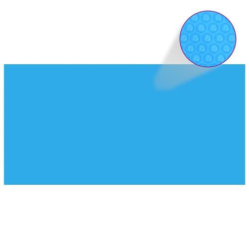 vidaXL Poolabdeckung Blau 488×244 cm PE