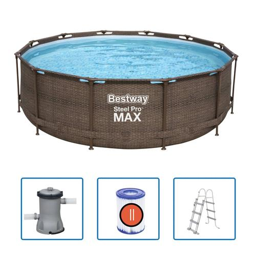 Bestway Swimmingpool-Set Steel Pro Max Rahmen 366 x 100 cm
