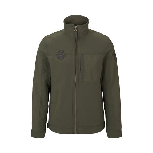 TOM TAILOR Herren Moderne Jacke im Material-Mix, grün, Gr.XL