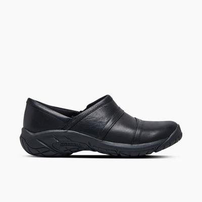 Merrell Women's Encore Moc 4 Leather Wide Width, Size: 9.5, Black