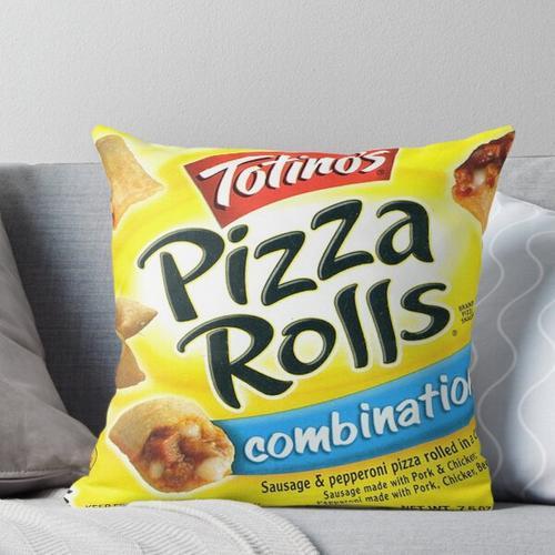 Pizzabrötchen-Kombination Kissen