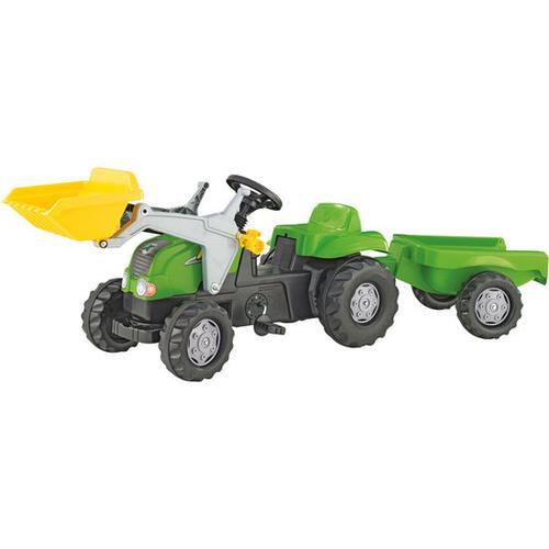rolly® toys Trettraktor mit Lader und Hänger, gelb