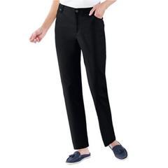 Women's Petite DreamFlex Hidden Comfort Color 5-Pocket Jeans, Black 6P