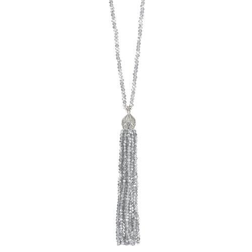 Collier Metall Kristall 88 cm