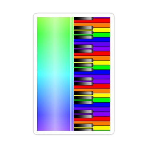 Rainbow Piano Keyboard Sticker