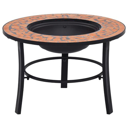 vidaXL Mosaik-Feuerstelle Terrakotta 68 cm Keramik