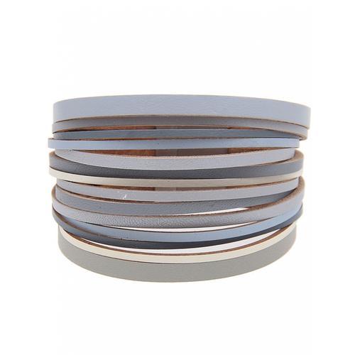 leslii Armband, mit vielen dünnen Bändern grau Damen Armband Armbänder Schmuck