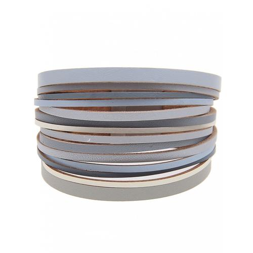 leslii Armband, mit vielen dünnen Bändern grau Damen Armbänder Schmuck Armband