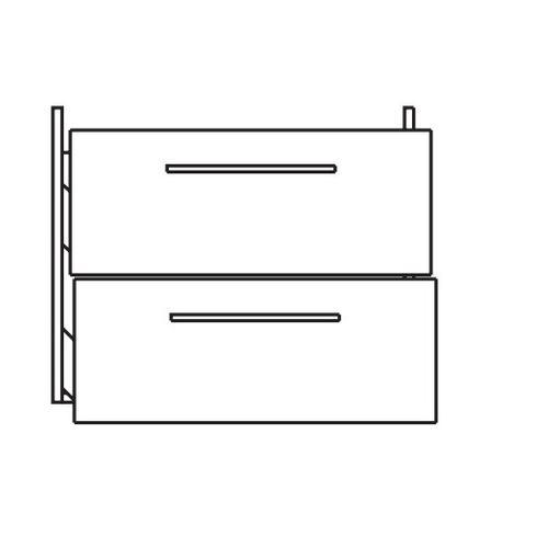 Waschtischunterschrank 9005-WU2L-K59, B:580, H:490, T:440mm 9005-WU2L-K59