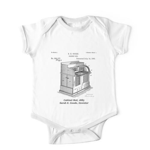 Schrankbett, Sarah E. Goode, Erfinder Kinderbekleidung