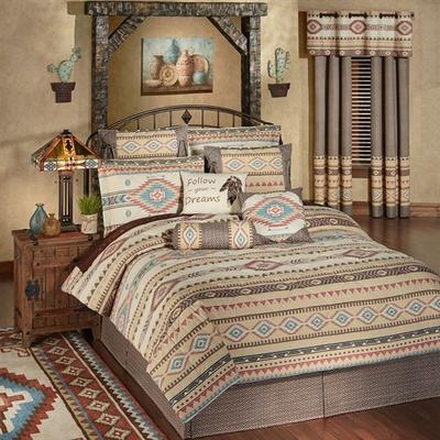 Maverick Comforter Set Multi Warm, Queen, Multi Warm