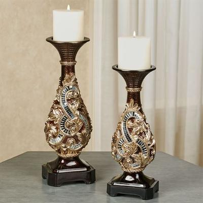 Daniella Candleholders Multi Metallic Set of Two, Set of Two, Multi Metallic
