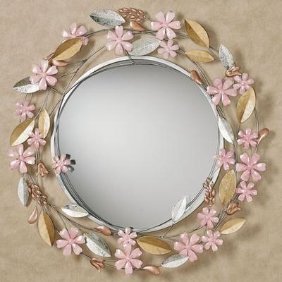 Wildflower Reflections Wall Mirror Blush , Blush