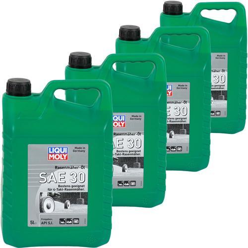 4x 5l Liqui Moly 1266 Rasenmäher Öl Sae 30 4t 4 Takt Öl Api Sj Viertak Liqui Moly Rasenmäher Öl Sae 30