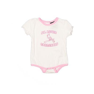 Adidas Short Sleeve Onesie: Pink Bottoms - Size 6-9 Month