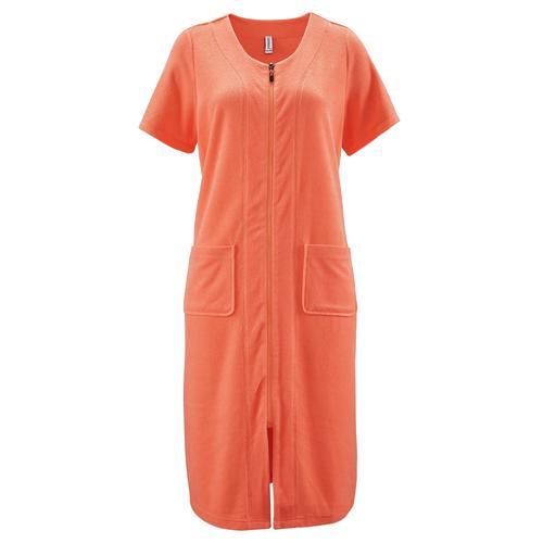 Avena Damen Frottee-Hauskleid Maritim Orange