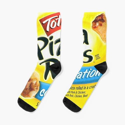 Pizzabrötchen-Kombination Socken