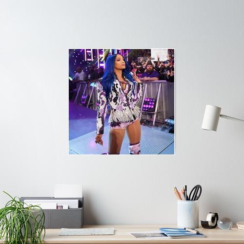 Sasha Banks Lila Jacke Poster