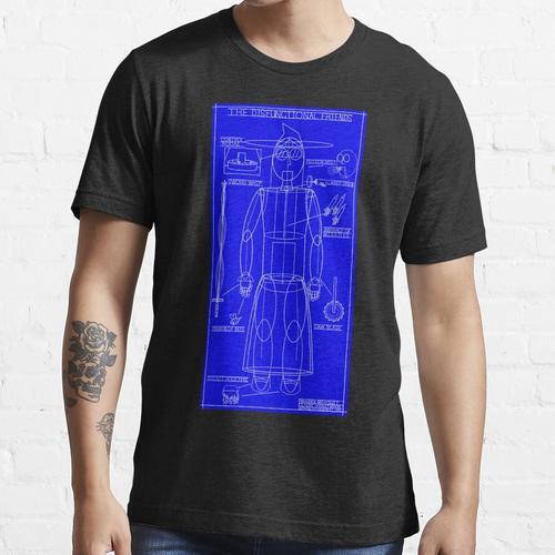 Hölzerne Mech Anzug Blaupausen Essential T-Shirt