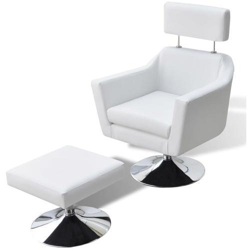 Vidaxl - Fernsehsessel Weiß Kunstleder